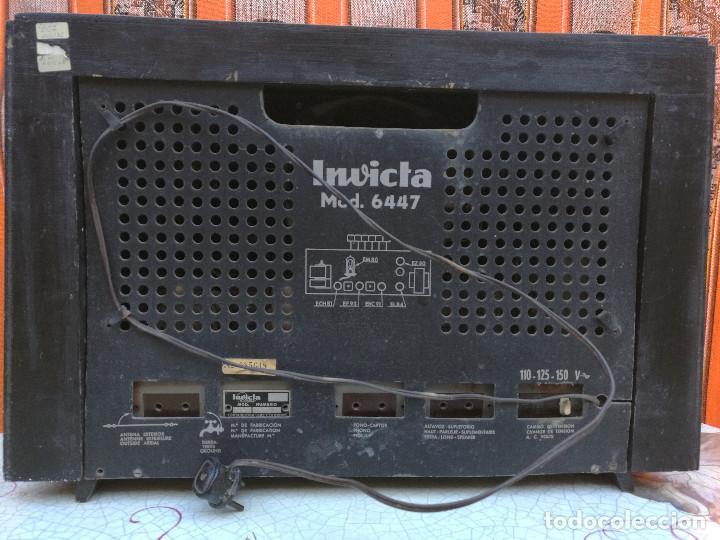Radios de válvulas: RADIO INVICTA 6447. MUEBLE MADERA. PRECIOSA. (VER FOTOS) - Foto 5 - 149543218