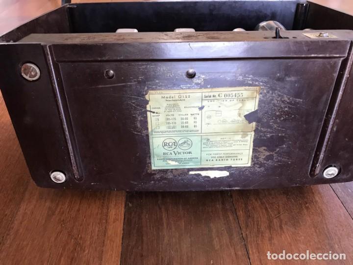 Radios de válvulas: RADIO RCA VICTOR AMERICANA. MODELO Q 122. 65 WATIOS. PARA RESTAURAR O ADORNO. - Foto 4 - 149552638