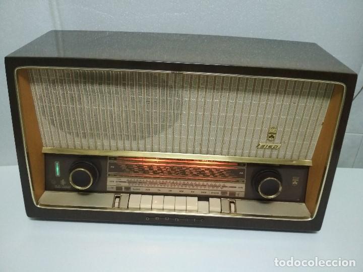 RADIO GRUNDIG (1960) - FUNCIONANDO MUY BIEN - CON FM - OJO MÁGICO - VER VIDEO (Radios, Gramófonos, Grabadoras y Otros - Radios de Válvulas)