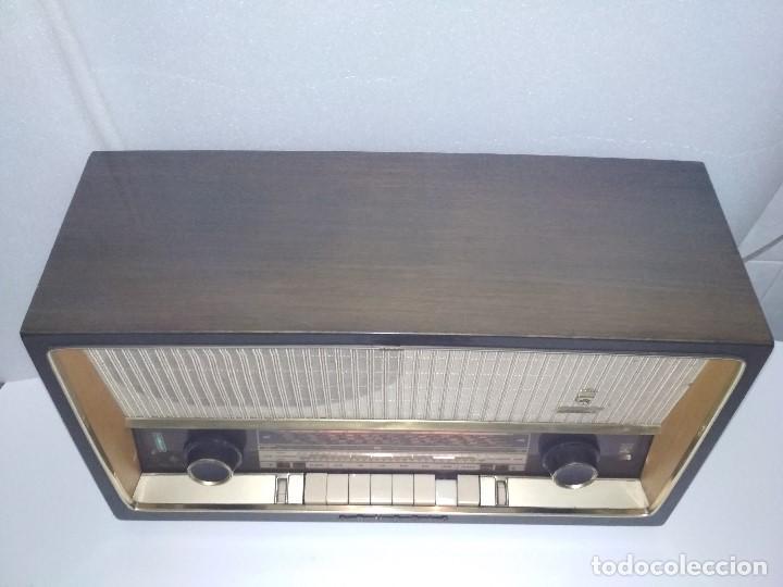 Radios de válvulas: RADIO GRUNDIG (1960) - FUNCIONANDO MUY BIEN - CON FM - OJO MÁGICO - VER VIDEO - Foto 4 - 149645266
