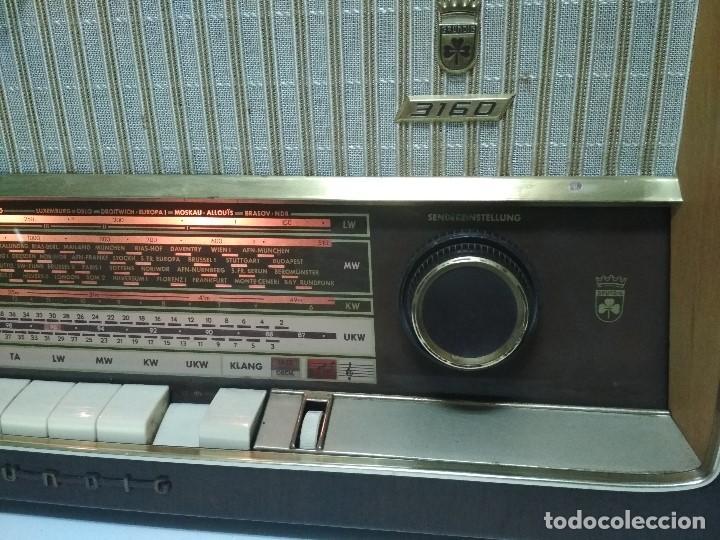 Radios de válvulas: RADIO GRUNDIG (1960) - FUNCIONANDO MUY BIEN - CON FM - OJO MÁGICO - VER VIDEO - Foto 6 - 149645266