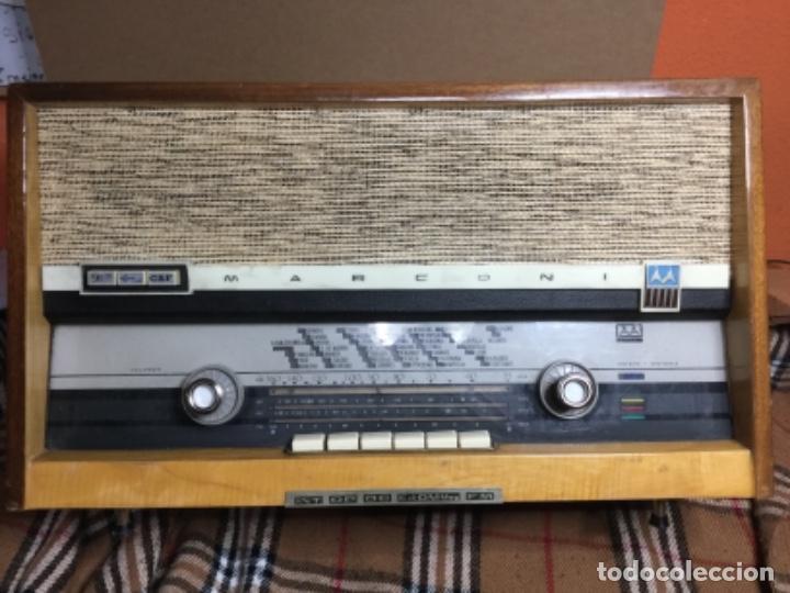 RADIO VÁLVULAS MARCONI RECICLADA ,USB,BLUETOOTH,MANDO ,UNA RADIO ANTIGUA CON TECNOLOGÍA 2019 (Radios, Gramófonos, Grabadoras y Otros - Radios de Válvulas)