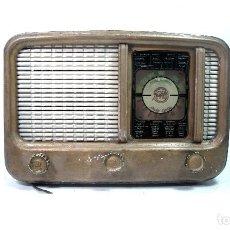 Radios de válvulas: PEQUEÑA RADIO VALVULAS - MARFIL UP-254-R -ONDA CORTA- SPAIN 1950- MADERA-UP-254R-TRANSISTOR. Lote 151164430