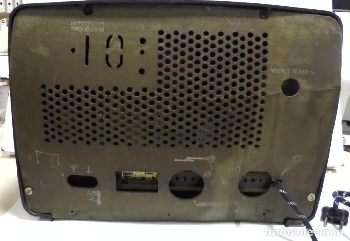 Radios de válvulas: ANTIGUA RADIO. MARCA PHILIPS. TIPO BE-341-A. 40 W. FUNCIONA. VER FOTOS - Foto 9 - 151705198