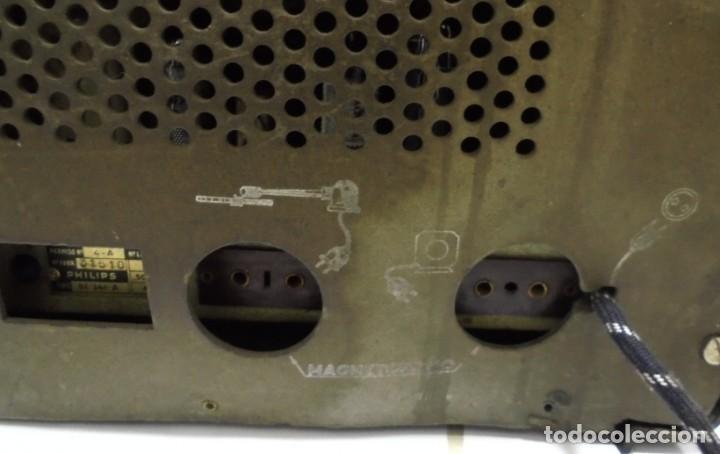 Radios de válvulas: ANTIGUA RADIO. MARCA PHILIPS. TIPO BE-341-A. 40 W. FUNCIONA. VER FOTOS - Foto 13 - 151705198