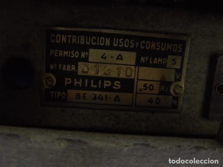 Radios de válvulas: ANTIGUA RADIO. MARCA PHILIPS. TIPO BE-341-A. 40 W. FUNCIONA. VER FOTOS - Foto 15 - 151705198