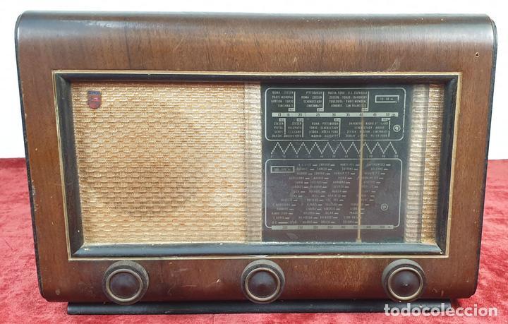 RADIO A VALVULAS. SINTONIZADOR PHILIPS MODELO 49-A. ESPAÑA. CIRCA 1940. (Radios, Gramófonos, Grabadoras y Otros - Radios de Válvulas)