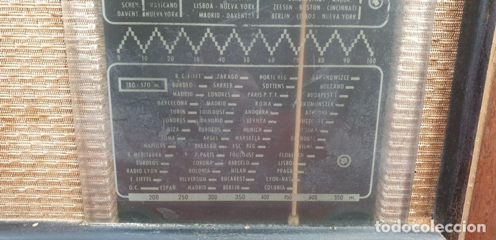 Radios de válvulas: RADIO A VALVULAS. SINTONIZADOR PHILIPS MODELO 49-A. ESPAÑA. CIRCA 1940. - Foto 2 - 151705878