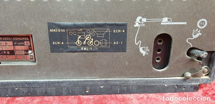 Radios de válvulas: RADIO A VALVULAS. SINTONIZADOR PHILIPS MODELO 49-A. ESPAÑA. CIRCA 1940. - Foto 13 - 151705878