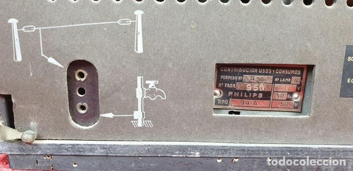Radios de válvulas: RADIO A VALVULAS. SINTONIZADOR PHILIPS MODELO 49-A. ESPAÑA. CIRCA 1940. - Foto 14 - 151705878