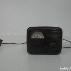 Radios à lampes: ANTIGUO ELEVADOR REDUCTOR - TRANSFORMADOR ANTIGUO - MARCA INBRE BAQUELITA - VOLTAJE RADIO VÁLVULAS. Lote 183754855