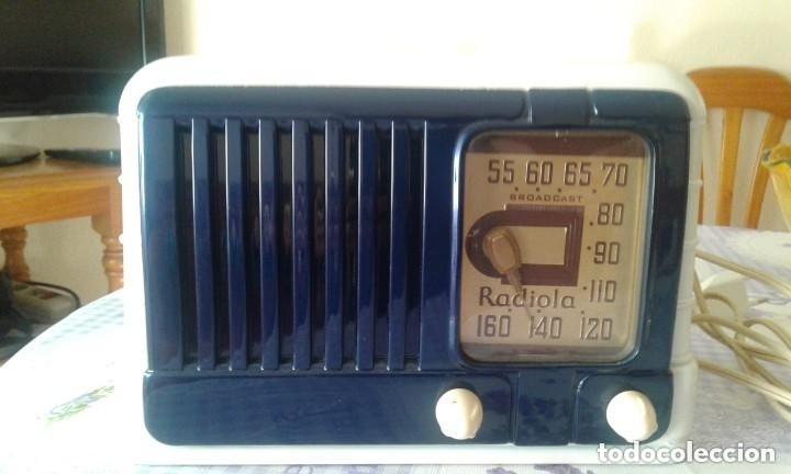 Radios de válvulas: PRECIOSA RADIO AMERICANA RADIOLA R.C.A. 511 RC 464 A EN ESTADO DE LUJO FUNCIONA COMO NUEVA - Foto 2 - 155438098