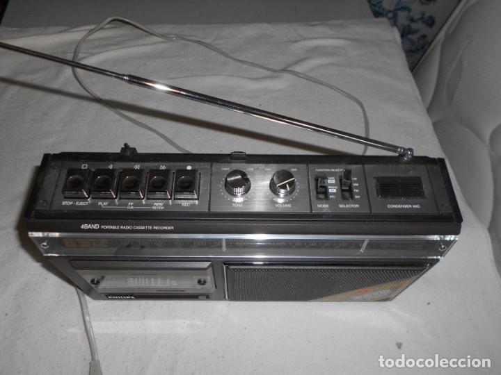 Radios de válvulas: Radio Cassette Philips - Foto 2 - 155945982
