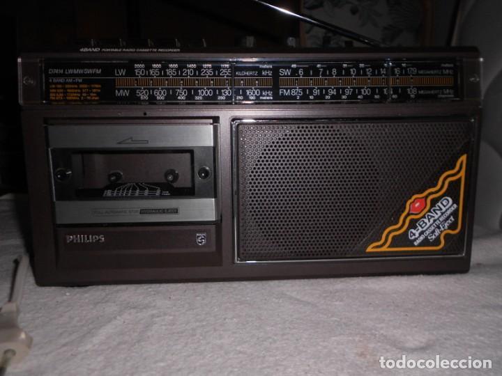 Radios de válvulas: Radio Cassette Philips - Foto 3 - 155945982