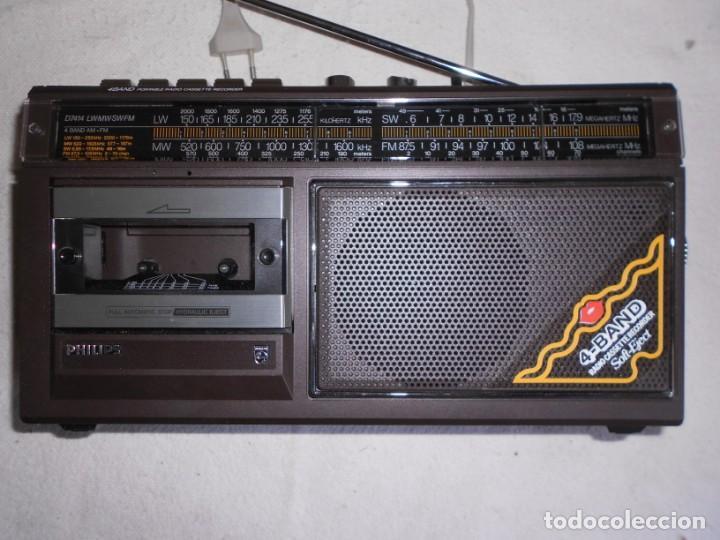 Radios de válvulas: Radio Cassette Philips - Foto 4 - 155945982