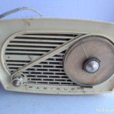 Radios de válvulas: MUY ANTIGUO AÑOS 50 RRA Y BONITA RADIO A VALVULAS RADIO PULGA RADIOLO COMPLETO Y FUNCIONANDO. Lote 156028938