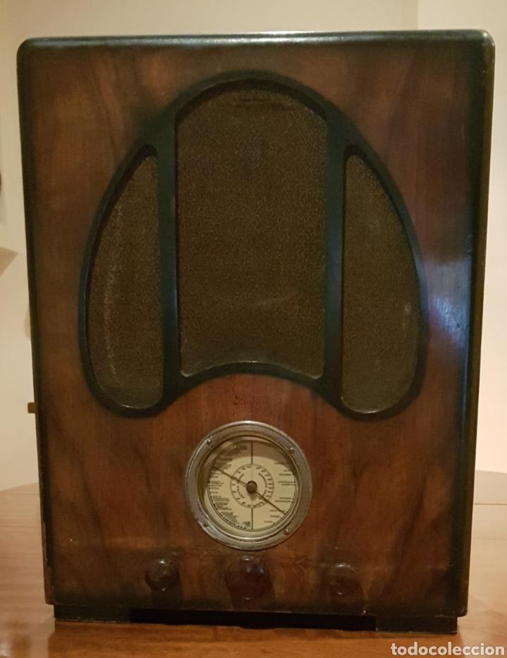 RADIO ART DECO FRANCESA AÑOS 1930-40~. MOD. FANFARE. (Radios, Gramófonos, Grabadoras y Otros - Radios de Válvulas)