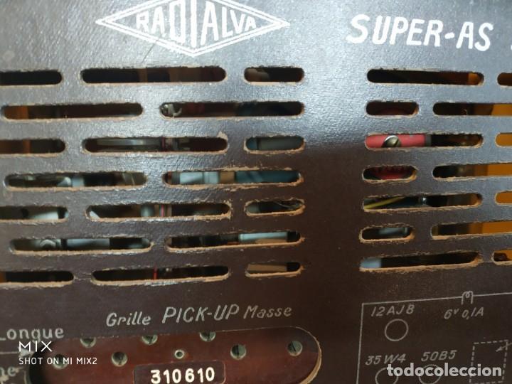 Radios de válvulas: ELEGANTE RADIO RADIALVA - MODELO SUPER-AS 55 EXPORT - Foto 3 - 159381786