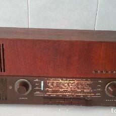 Radios de válvulas: ANTIGUA RADIO GRUNDIG - OJO MÁGICO - CON FM - FUNCIONANDO MUY BIEN (VER VÍDEO). Lote 160996046