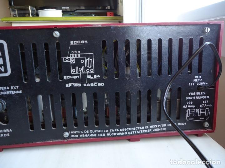 Radios de válvulas: RADIO MODELO CAMPANELA DE TELEFUNQUEN EN COLOR ROJO - Foto 4 - 163961030