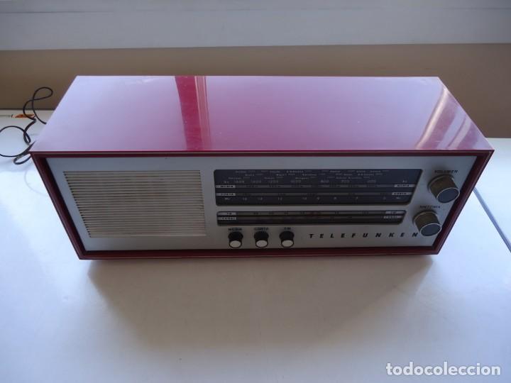 Radios de válvulas: RADIO MODELO CAMPANELA DE TELEFUNQUEN EN COLOR ROJO - Foto 6 - 163961030