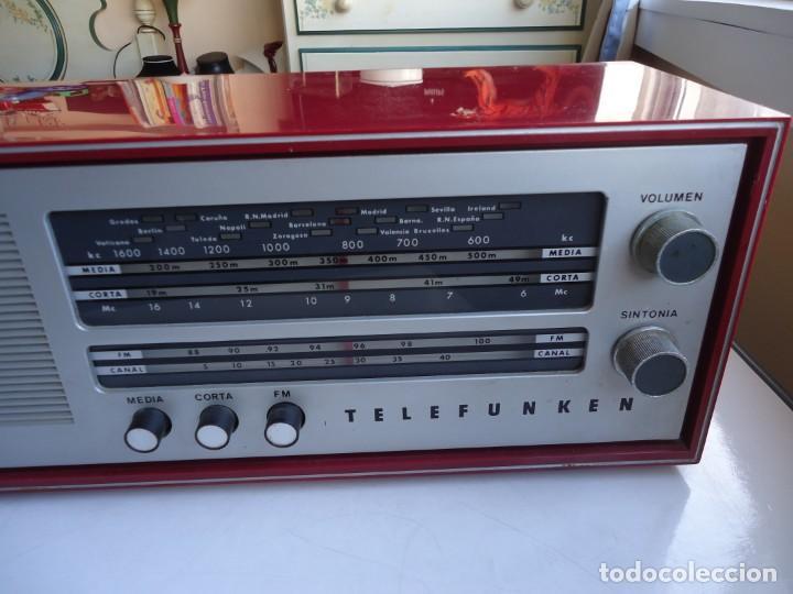 Radios de válvulas: RADIO MODELO CAMPANELA DE TELEFUNQUEN EN COLOR ROJO - Foto 7 - 163961030