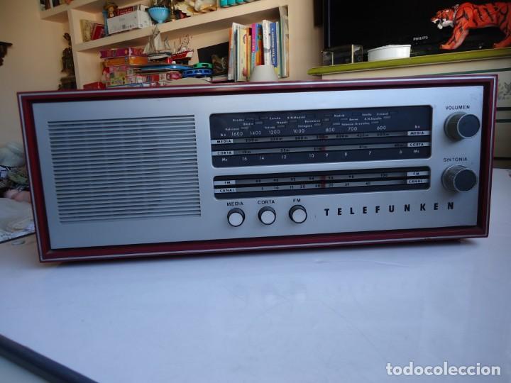 Radios de válvulas: RADIO MODELO CAMPANELA DE TELEFUNQUEN EN COLOR ROJO - Foto 8 - 163961030