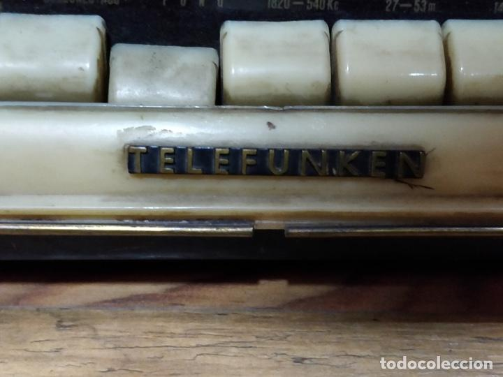 Radios de válvulas: Radio TELEFUNKEN 6 válvulas 40.5 x 18.5 x 29cm - Foto 2 - 167650220