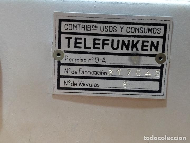 Radios de válvulas: Radio TELEFUNKEN 6 válvulas 40.5 x 18.5 x 29cm - Foto 9 - 167650220