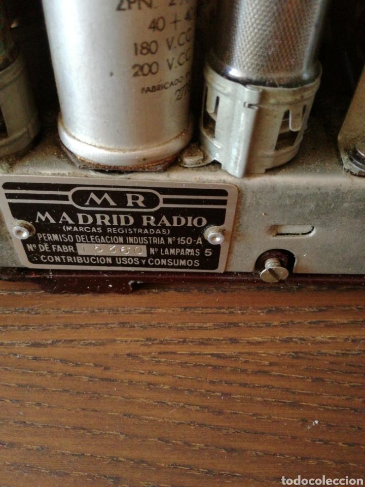 Radios de válvulas: APARATO DE RADIO MARCA MADRID RADIO MOD59 - Foto 10 - 168353866