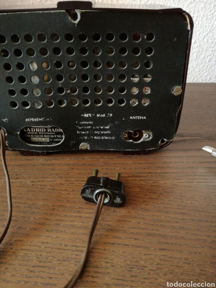 Radios de válvulas: APARATO DE RADIO MARCA MADRID RADIO MOD59 - Foto 16 - 168353866