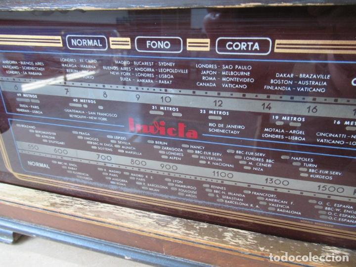 Radios de válvulas: Radio Invicta Mod. 329 - Foto 12 - 168486008
