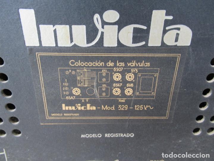 Radios de válvulas: Radio Invicta Mod. 329 - Foto 16 - 168486008