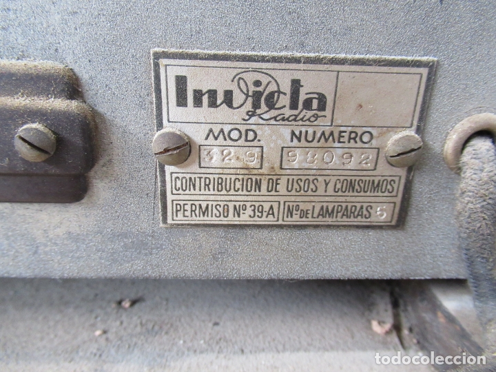 Radios de válvulas: Radio Invicta Mod. 329 - Foto 26 - 168486008
