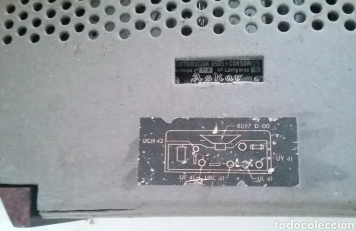 Radios de válvulas: RADIO de válvulas marca ASKAR Mod. 446-U. - Foto 12 - 169050950
