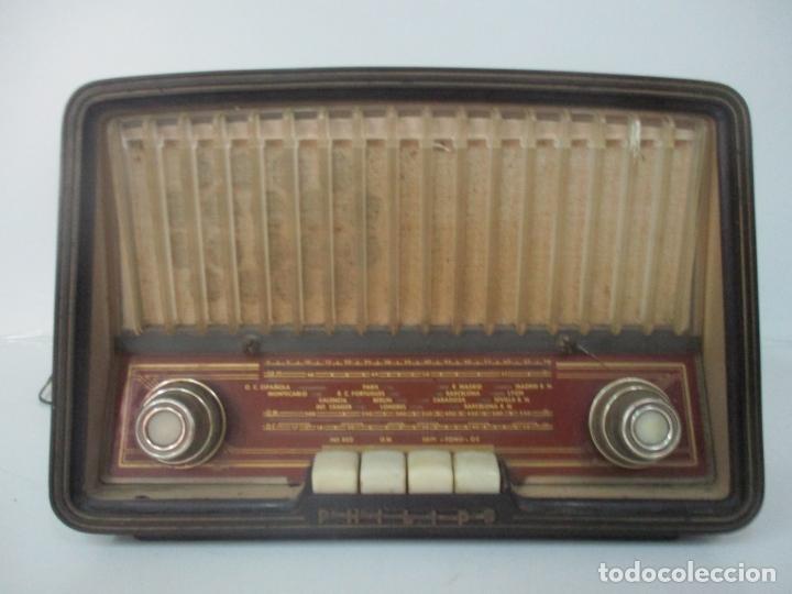 Radios de válvulas: Antigua Radio - Marca Philips - Mod, B3 E 72U - Baquelita - Años 1957-58 - Foto 13 - 171338539