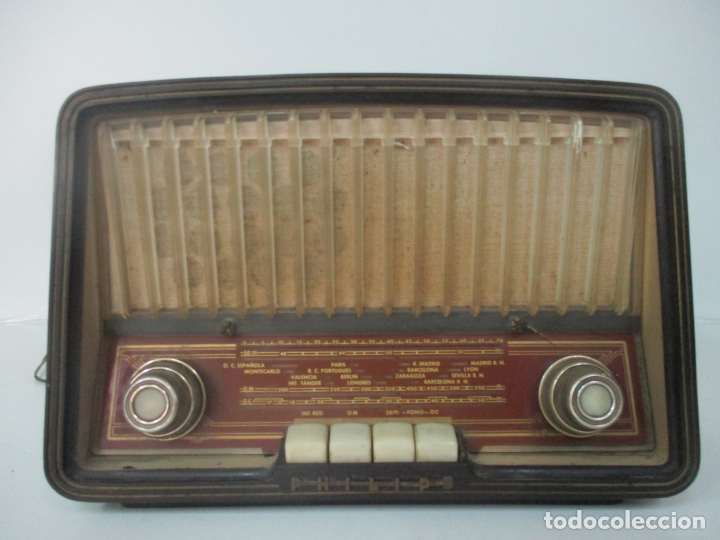 ANTIGUA RADIO - MARCA PHILIPS - MOD, B3 E 72U - BAQUELITA - AÑOS 1957-58 (Radios, Gramófonos, Grabadoras y Otros - Radios de Válvulas)