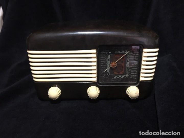 RADIO DE BAQUELITA TESLA 306 U TALISMAN, (Radios, Gramófonos, Grabadoras y Otros - Radios de Válvulas)