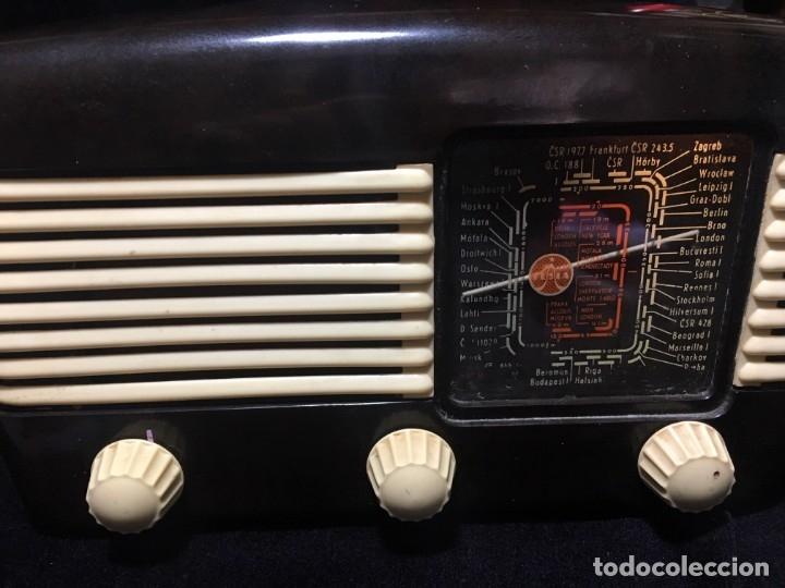 Radios de válvulas: RADIO DE BAQUELITA TESLA 306 U TALISMAN, - Foto 2 - 172615118