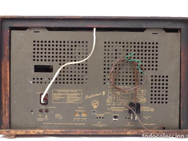 Radios de válvulas: Antigua radio de válvulas BLAUPUNKT, modelo SALERNO buen estado, funcionando (ver vídeo) - Foto 11 - 173235855