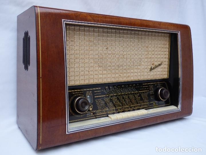 ANTIGUA RADIO DE VÁLVULAS BLAUPUNKT, MODELO SALERNO BUEN ESTADO, FUNCIONANDO (VER VÍDEO) (Radios, Gramófonos, Grabadoras y Otros - Radios de Válvulas)