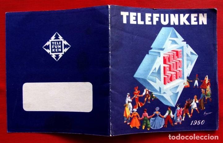 Radios de válvulas: CATÁLOGO PUBLICITARIO RADIO TELEFUNKEN. AÑO: 1950. - Foto 2 - 173665433