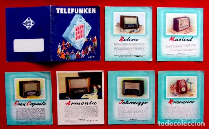 Radios de válvulas: CATÁLOGO PUBLICITARIO RADIO TELEFUNKEN. AÑO: 1950. - Foto 3 - 173665433