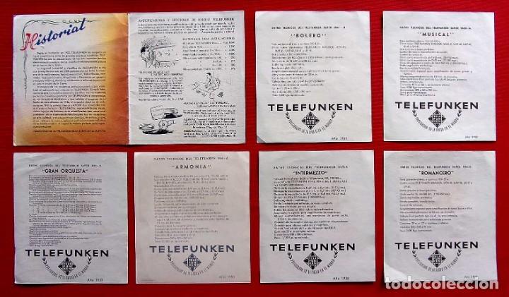 Radios de válvulas: CATÁLOGO PUBLICITARIO RADIO TELEFUNKEN. AÑO: 1950. - Foto 4 - 173665433