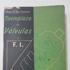 Rádios de válvulas: REEMPLAZO DE VALVULAS Y FRECUENCIAS INTERMEDIAS - POR FELIX MOLERO -1945. Lote 174563262