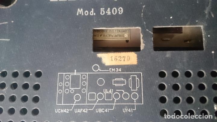 Radios de válvulas: RADIO INVICTA 5409 de 1950 CON TRANSFORMADOR Y VOLTIMETRO AÑADIDOS - Foto 2 - 175046688