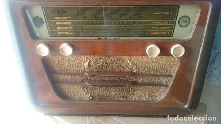 RADIO INVICTA 5409 DE 1950 CON TRANSFORMADOR Y VOLTIMETRO AÑADIDOS (Radios, Gramófonos, Grabadoras y Otros - Radios de Válvulas)