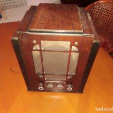 Radios de válvulas: RADIO TOMBSTONE O SEMICAPILLA STEWART WARNER DE LOS AÑOS 30 EN PLENO FUNCIONAMIENTO. Lote 175393687