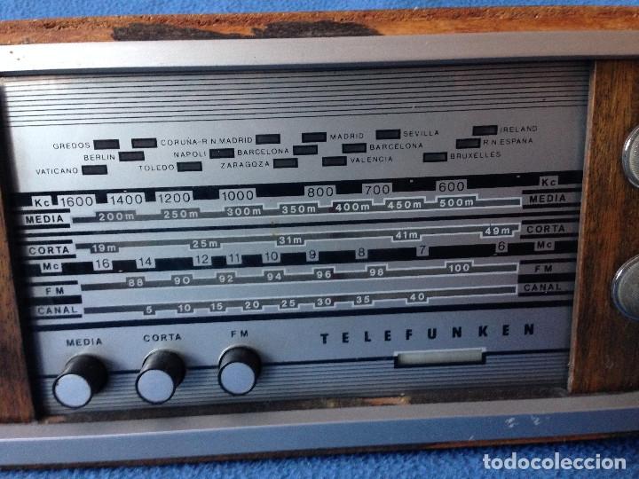 Radios de válvulas: RADIO VINTAGE TELEFUNKEN INTERMEZZO A-2747 FM. AÑOS 60.FUNCIONA, - Foto 2 - 175824430