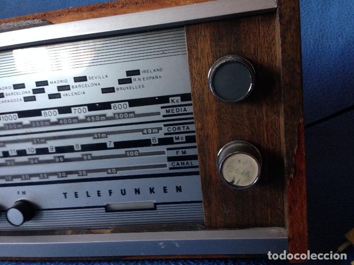 Radios de válvulas: RADIO VINTAGE TELEFUNKEN INTERMEZZO A-2747 FM. AÑOS 60.FUNCIONA, - Foto 3 - 175824430